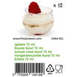 Verrines en plastique Sphère 75 ml CN04-53C - 5