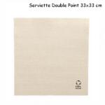 Serviette en papier recyclé double point 33x33 cm couleur kraft - ProSaveurs