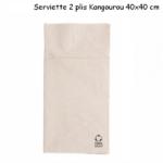 Serviette en papier recyclé deux plis 40x40 cm plié façon kangourou couleur kraft - ProSaveurs