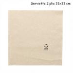 Serviette en papier recyclé deux plis 33x33 cm couleur kraft - ProSaveurs