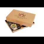 Plateau-repas éco responsable avec ses 4 assiettes en plastique recyclé pleines v3 - ProSaveurs -