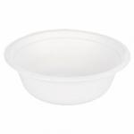 Saladier biodégradable blanc en pulpe de canne de 500 ml vendu par 50 - 1 - ProSaveurs