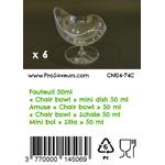Verrine en plastique Fauteuil 50 ml CN04-74C-4