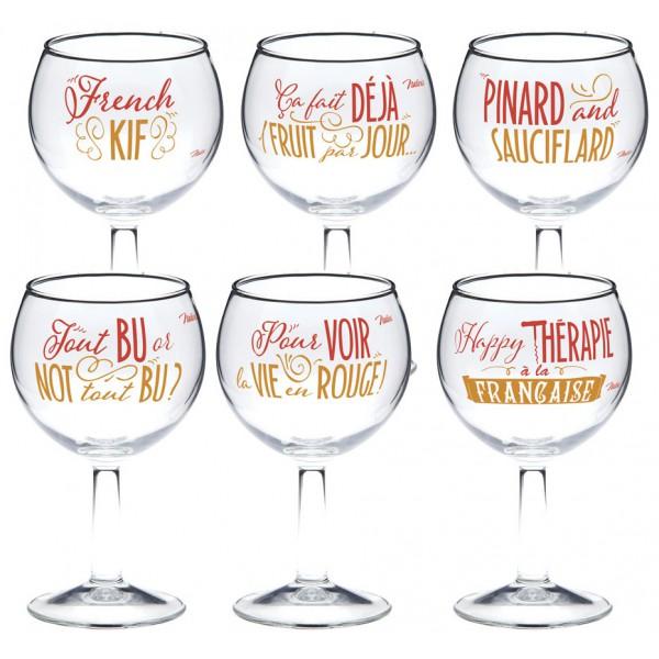 coffret-de-6-verres-a-vin-happy-therapie-a-la-francaise-natives-deco-retro-vintage