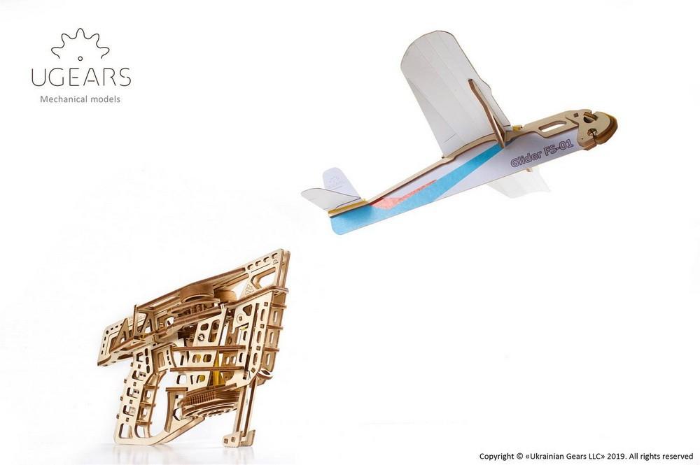 Ugears Maquette mécanique Flight Starter Aéro lanceur