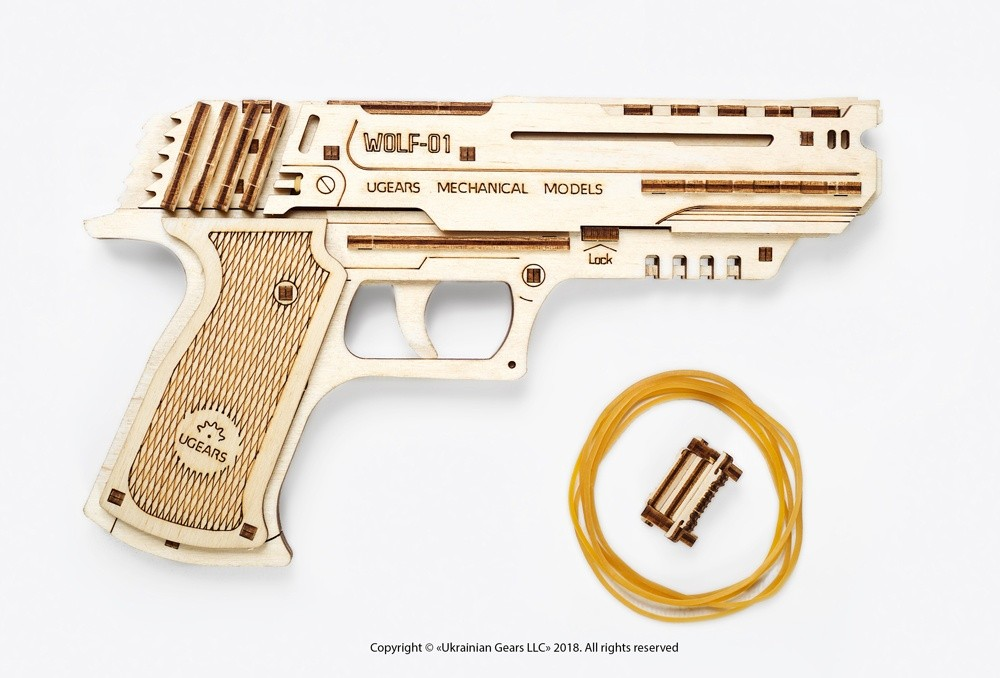 Ugears Handgun Mechanical Model 9-max-1100