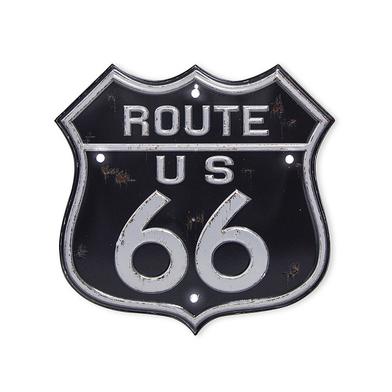 26832 Plaque décoration murale Route 66 LED 18 cm