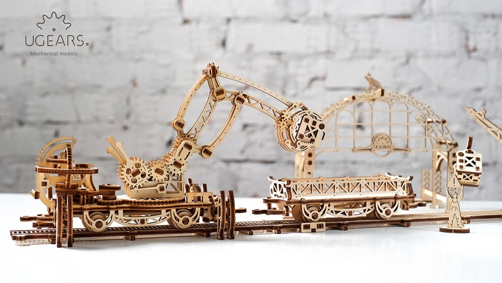 Ugears Rail Manipulator Mechanical Town Series (11)-max-1100