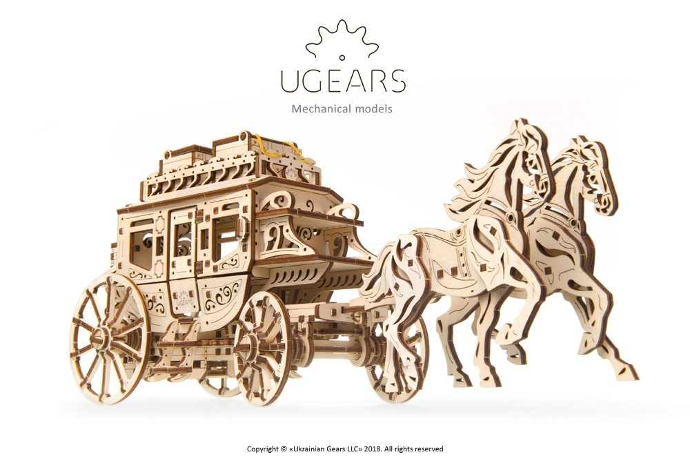 Ugears Stagecoach model 2-max-1100