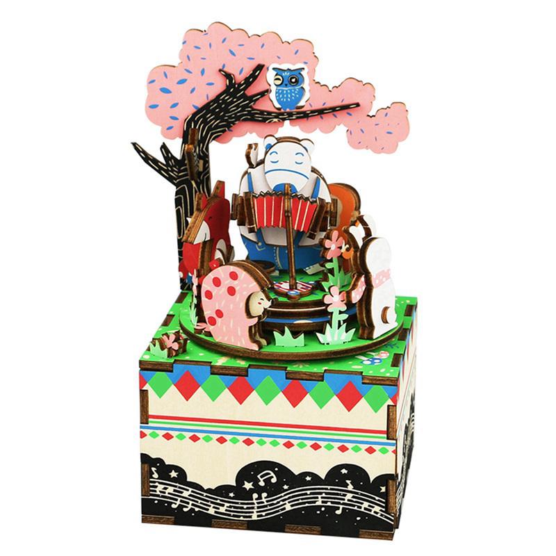 Boîte à musique Puzzle 3D Forest Concert AM404 8,8 × 10,1 × 15,6 cm