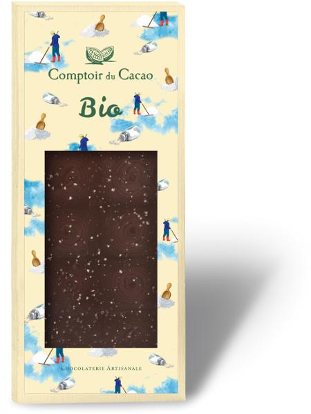 Tablette gourmande Bio Comptoir du Cacao- Noir Fleur de Sel
