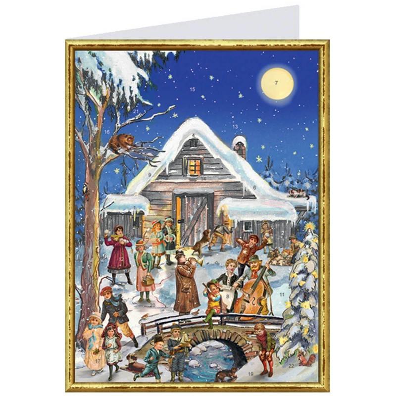 carte-postale-calendrier-de-l-avent-musiciens