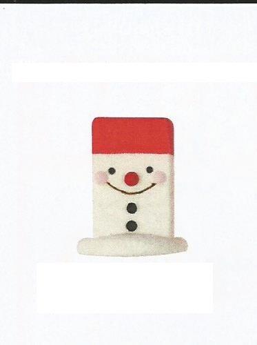 sujet en sucre bonhomme de neige borne