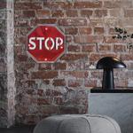26830B Plaque décoration murale Stop LED 18 cm PVC