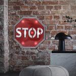 26831B Plaque décoration murale Stop LED 31 cm PVC