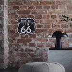 26832B Plaque décoration murale Route 66 LED 18 cm