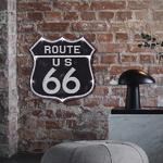 26833B Plaque décoration murale Route 66 LED 31 cm