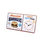 25833 Horloge murale Hamburgers métal