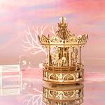 Rokr DIY Boîte à Musique 3D Carrousel Romantique(4)