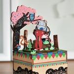 Boîte à musique Puzzle 3D Forest Concert AM404 8,8 × 10,1 × 15,6 cm (2)