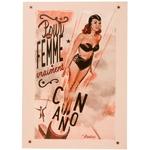 carte-postale-femme-canon-natives-deco-retro-vintage-humoristique