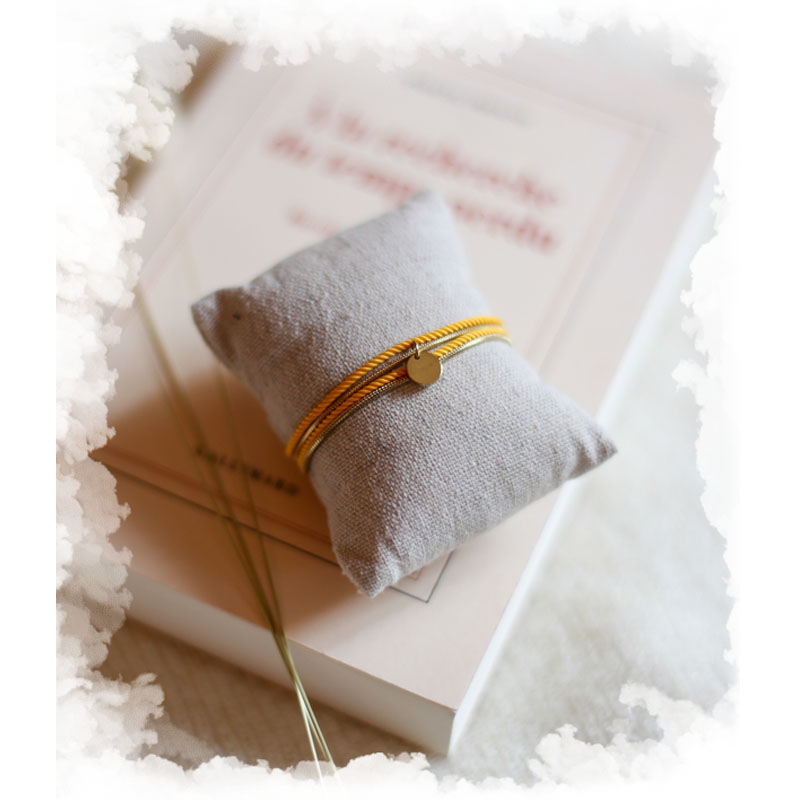 Valentine - Doré avec corde Safran