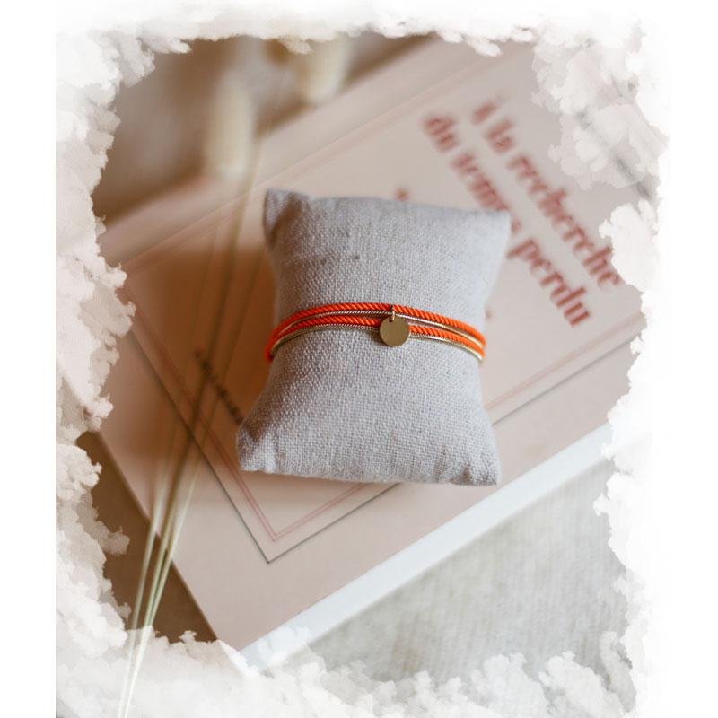 Valentine - Doré avec corde Orange