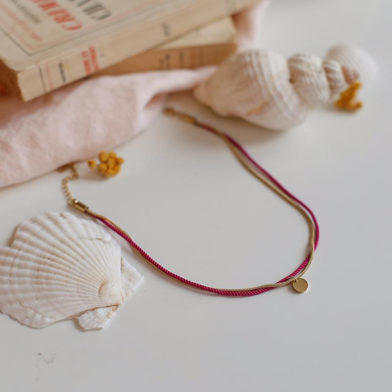 Valentine - Doré avec corde Bougainvillier