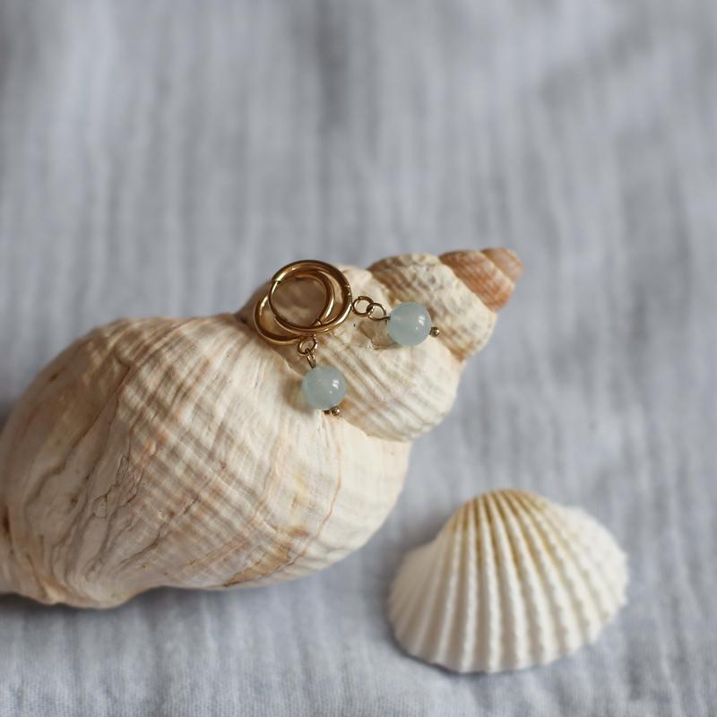 Boucles Héloïse - Aigue Marine