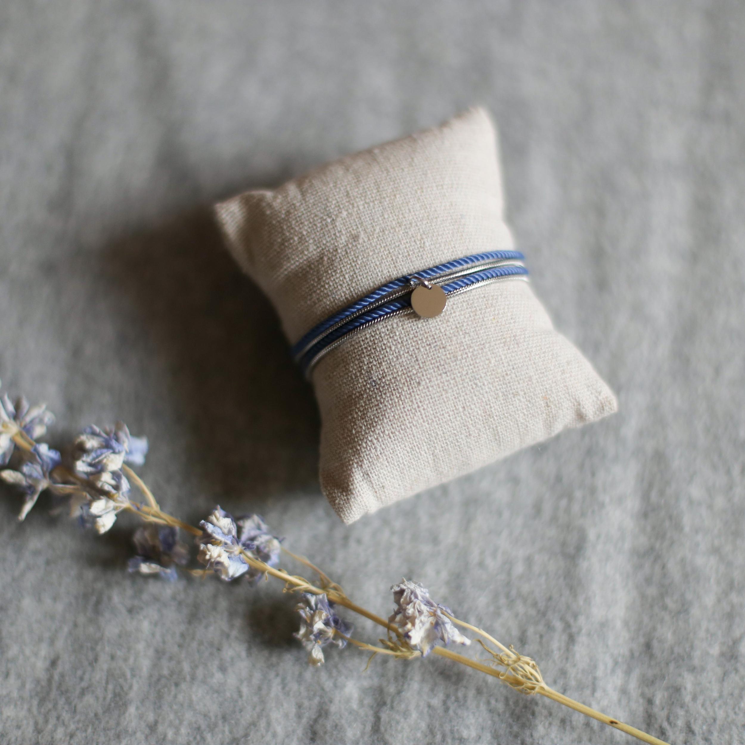 Valentine - Argenté avec corde Denim