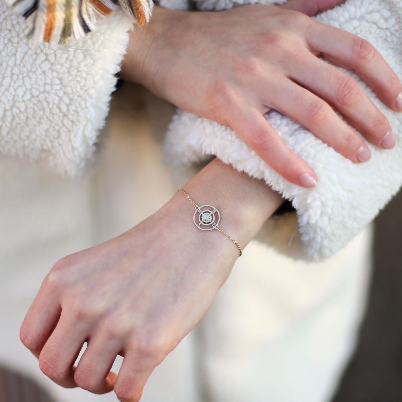 Bracelet Rosa - Doré