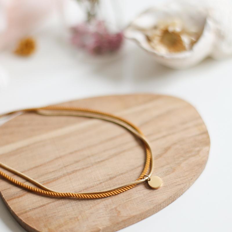 Valentine - Doré avec corde Miel