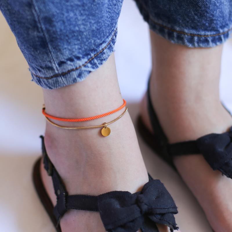 Chaîne de Cheville Valentine - Orange