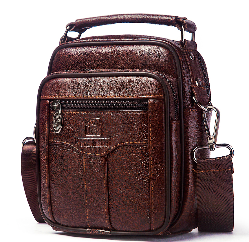 petit sac cuir homme marron