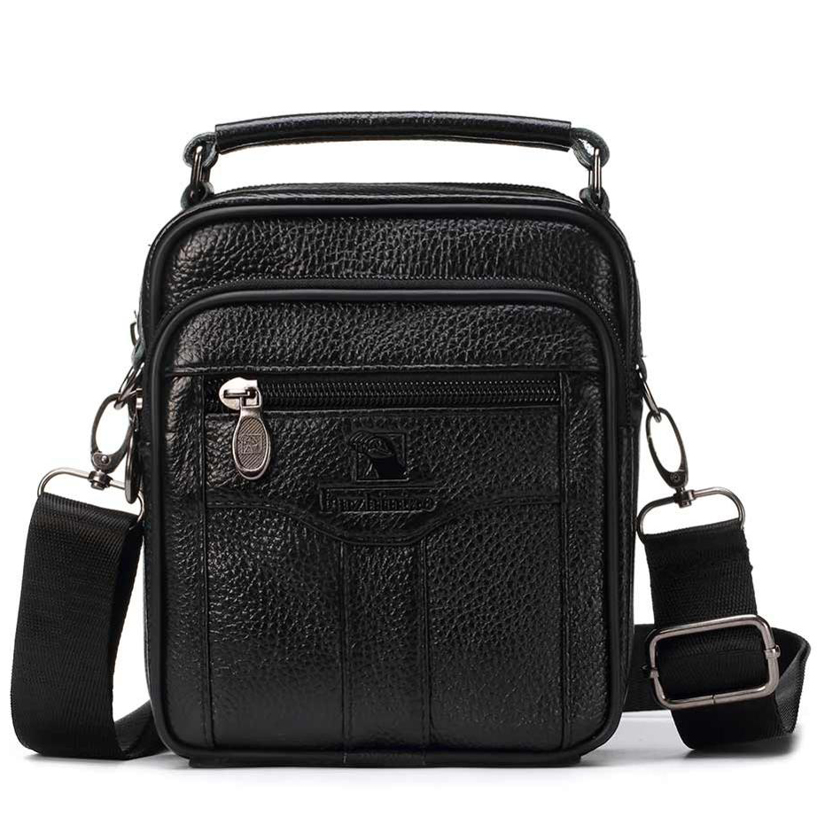 sac cuir homme véritable noir. Sacoche bandouliere ... 7ddf44b537e
