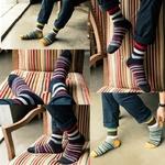 chaussettes-rayures-colorées-fantaisie