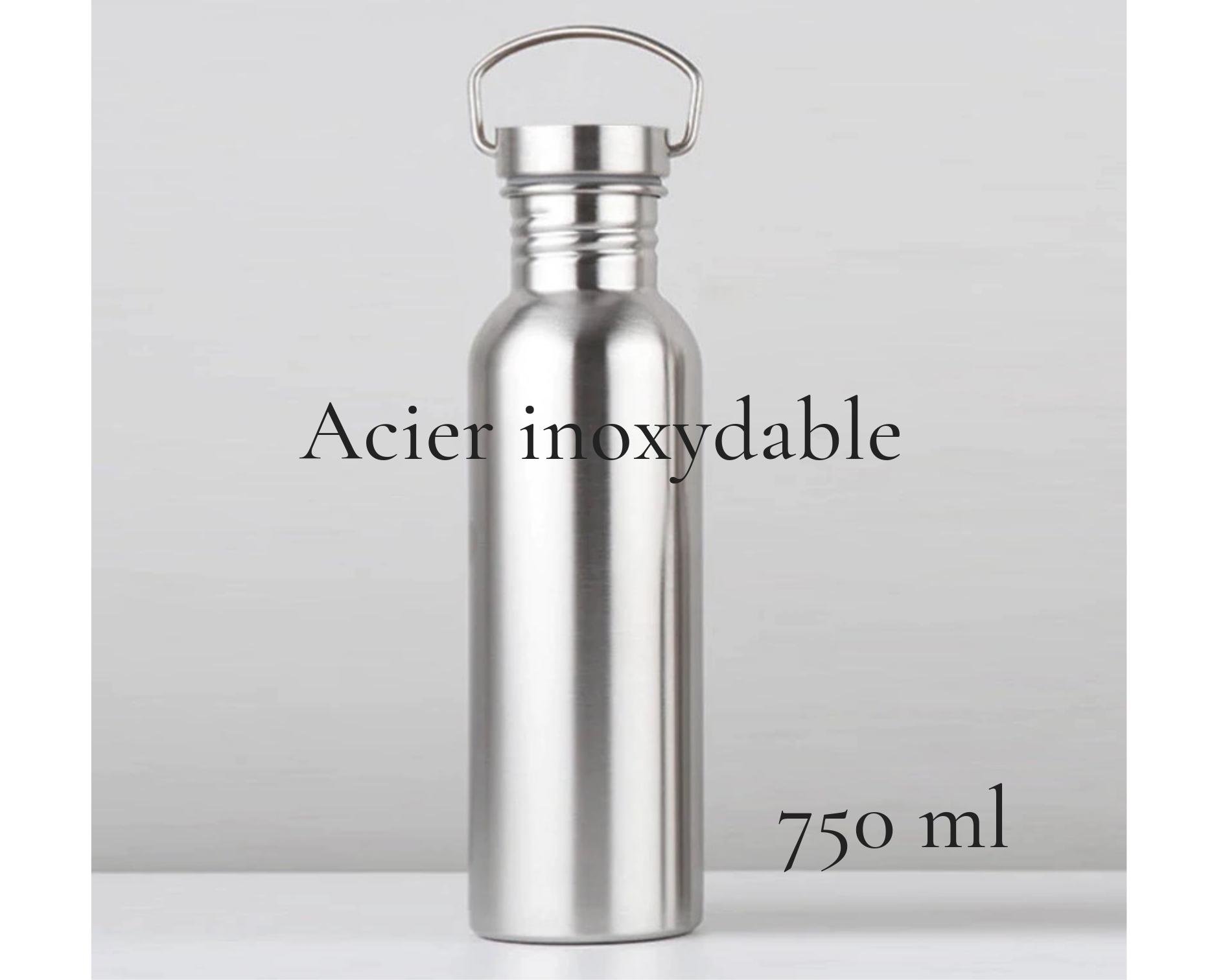 La bouteille en acier inoxydable 750 ml