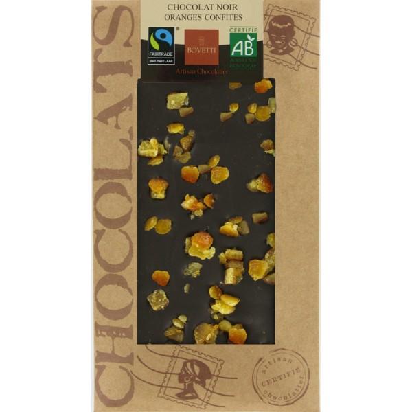 Chocolat Noir Oranges confites Bio 100 g