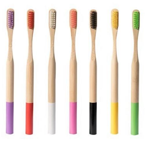 Brosse à dents bambou manche couleur