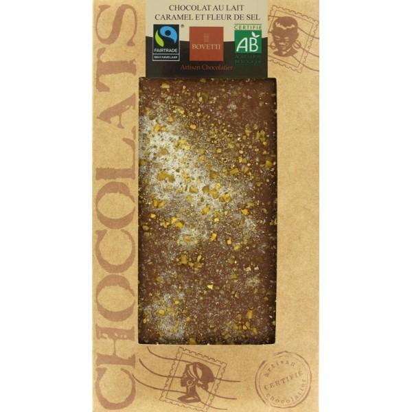 Chocolat Lait Caramel-Fleur de sel Bio 100G