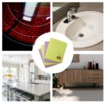 Nettoyer naturellement avec les carrés éponge lavables