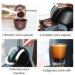 Comment utiliser la capsule rechargeable pour machine dolce gusto