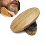 brosse pour barbe naturelle en bois