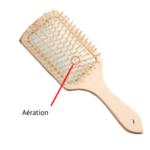 brosse à cheveux large