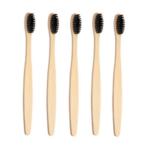 Lot de 5 brosses à dents en bambou