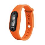 bracelet podometre non connecte orange