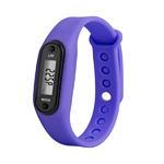 bracelet podometre non connecte violet