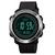Montre GPS avec altimètre, capteur de pression et baromètre noir argent