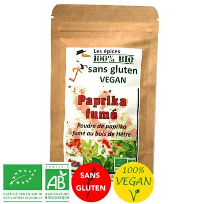 Epices Paprika fumé - Vegan - Bio sans gluten