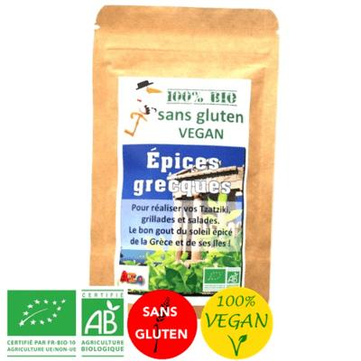 Epices Marinade grecque - Vegan - Bio sans gluten
